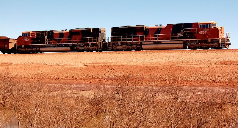 BHP iron ore train