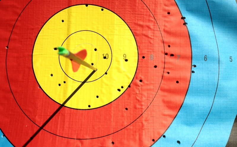 colourful target