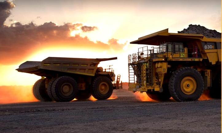 Emeco trucks in sunset