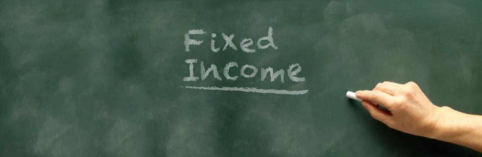 fixed income written on chalkboard