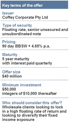 key terms of coffey offer