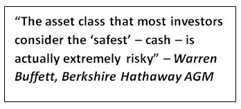 the asset class that most investors consider safest