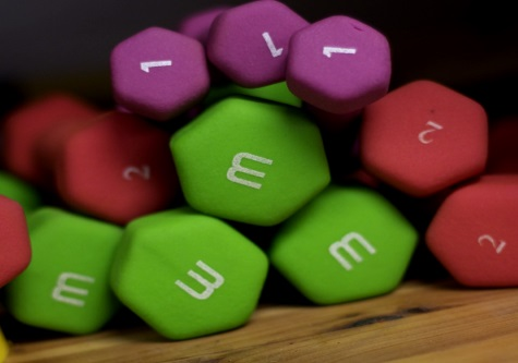 colourful weights