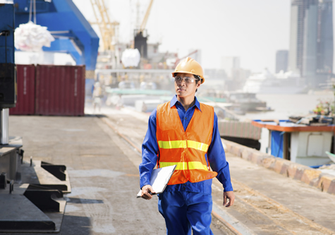 worker on docks